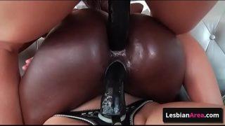 Amazing threesme lesbian hardcore anal fuck with sex strap-ons and Sinn Sage & Ana Foxxx